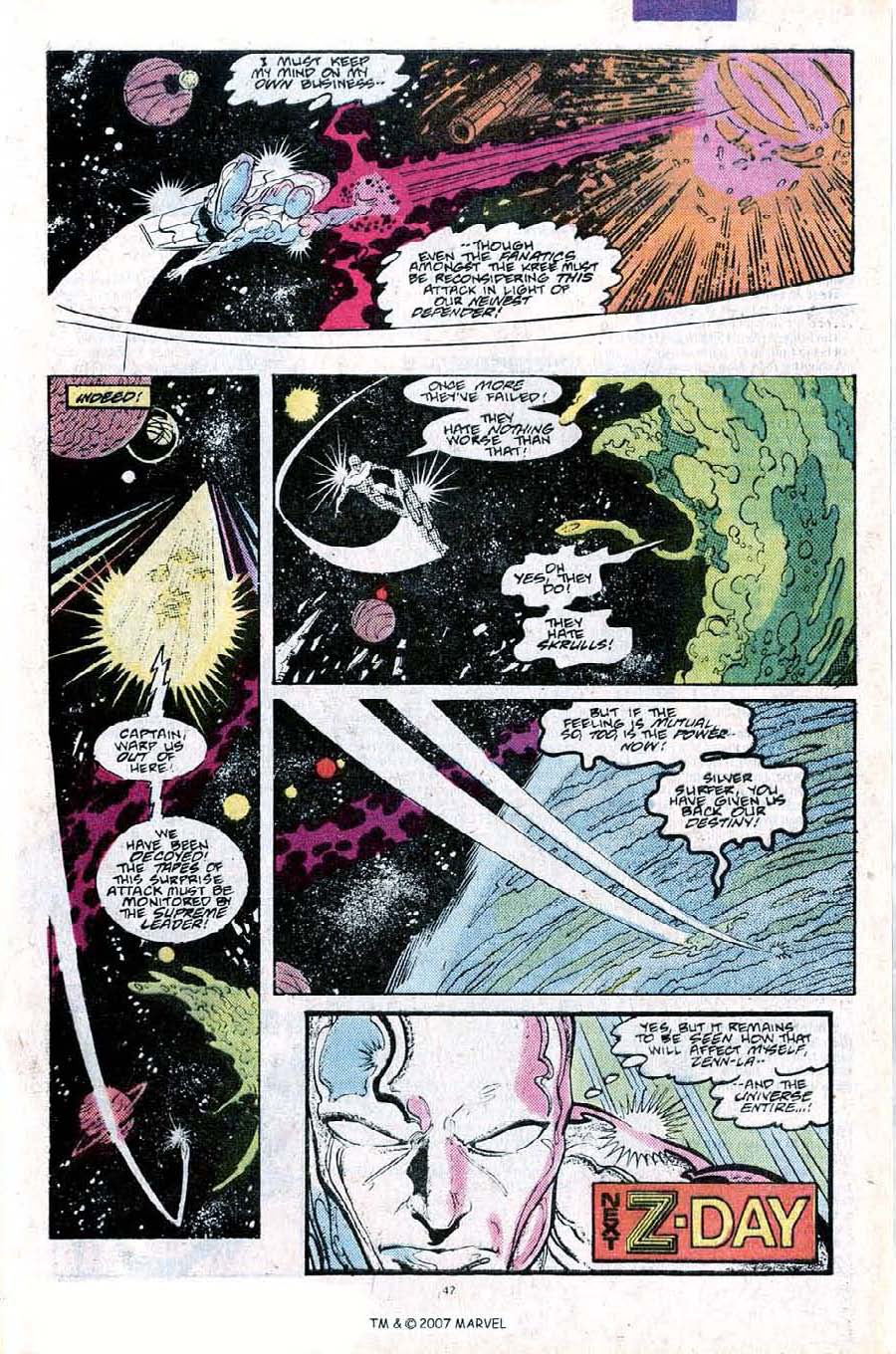Read online Silver Surfer (1987) comic -  Issue #25 - 49