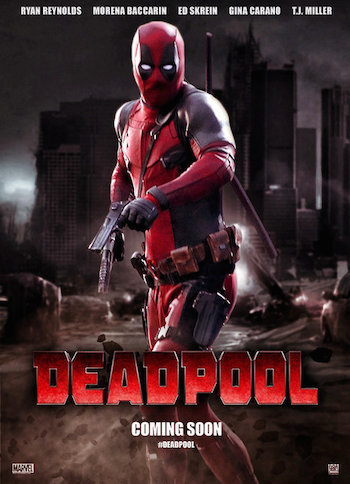 Poster Of Deadpool 2016 English 300MB HDTS 480p Watch Online