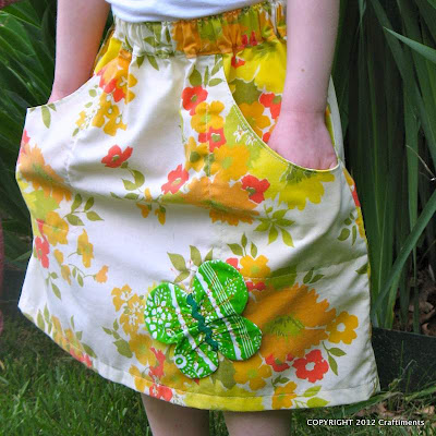 Upcycled Pillowcase Skirt from Craftiments.com