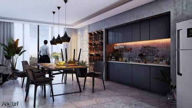 Kitchen Dinning Sketchup Interior Scene , 3d free , sketchup models , free 3d models , 3d model free download