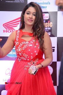 Actress Poonam Bajwa Pictures in Red Long Dress at Mirchi Music Awards South 2015  0041