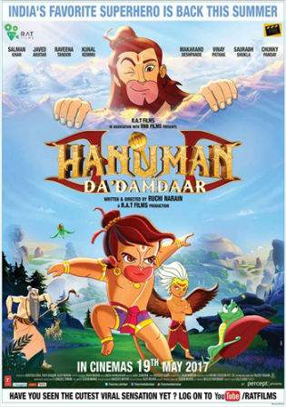 Hanuman Da Damdaar 2017 Pre DVDRip 300MB Hindi Movie 480p Watch Online Free Download bolly4u