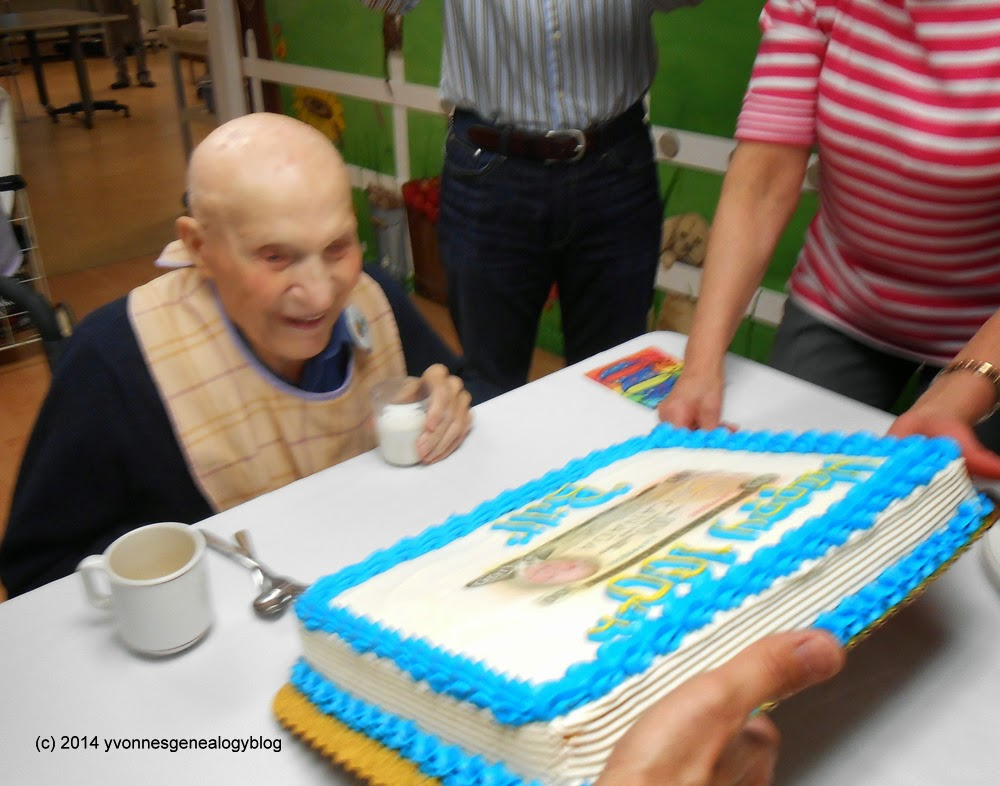 William Demoskoff on his 100th birthday