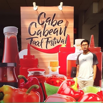 aneka jajanan pedas, photo booth cabe-cabean food festival