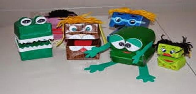 Aprenda a fazer fantoche com material reciclável
