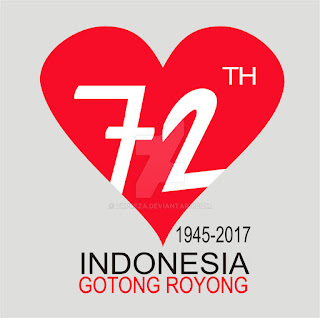 Download Logo Asli HUT RI Ke 72 - Tahun 2017