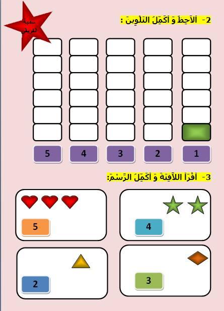 15337471 392346857763406 1337239348198356711 n - تمارين على الأعداد من 1 إلى 5
