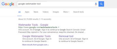 Google Web master tool Importance