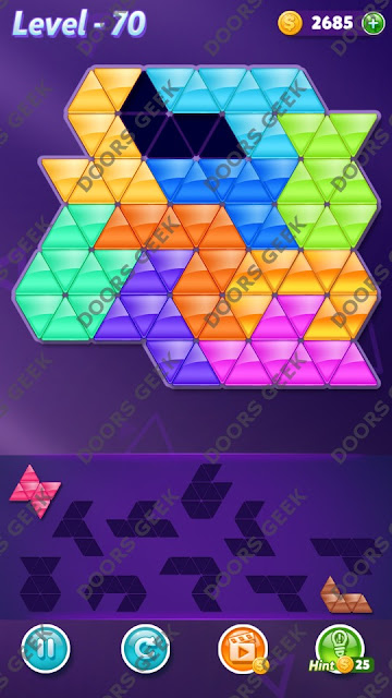 Block! Triangle Puzzle Master Level 70 Solution, Cheats, Walkthrough for Android, iPhone, iPad and iPod