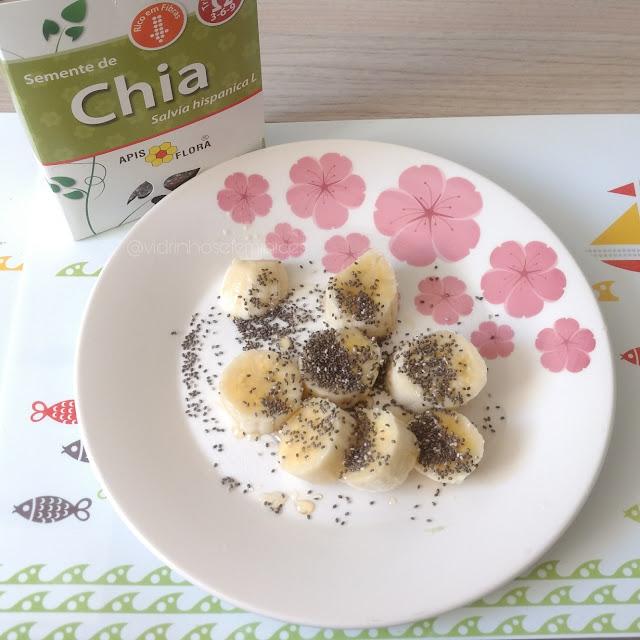 Semente de Chia com Banana