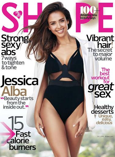 Jessica Alba Shape Magazine Photos