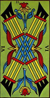 Le Six de Bâton à l'Envers