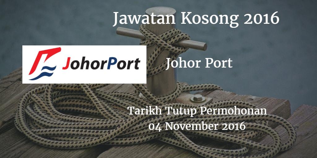 Jawatan Kosong Johor Port 04 November 2016