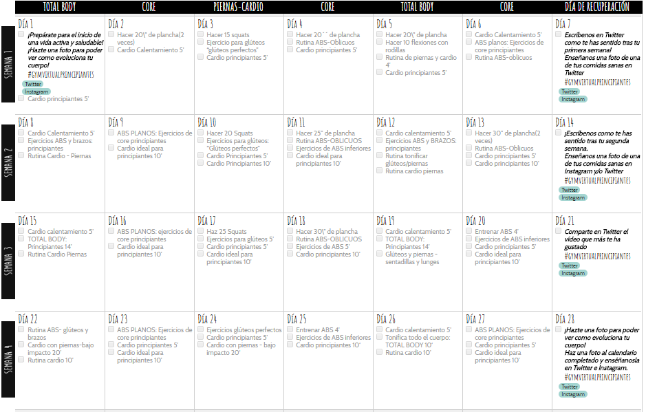 Calendario Septiembre Gymvirtual.Faaqidaad Article