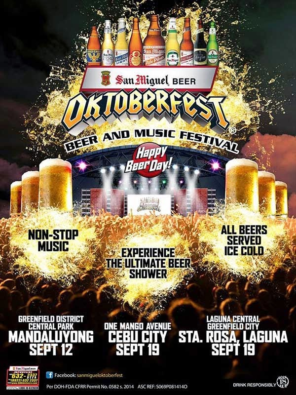 2014 San Miguel Oktoberfest Schedule starts on September 12
