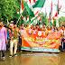 """दुमका : बारिश में भी  """"संकल्प तिरंगा यात्रा"""" में युवाओं ने लिया हिस्सा"""