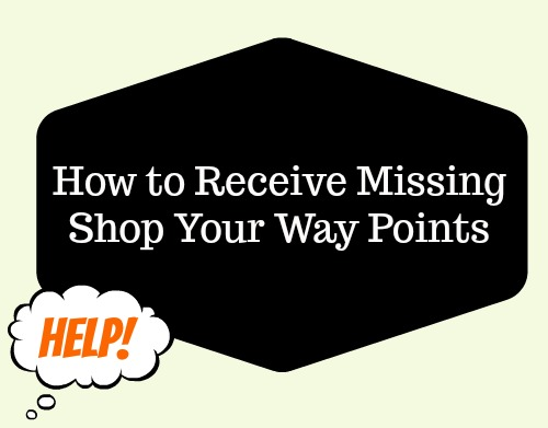 missing Shop Your Way points