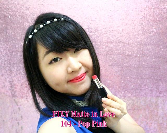 PIXY Matte in Love Lipstick 104 Pop Pink