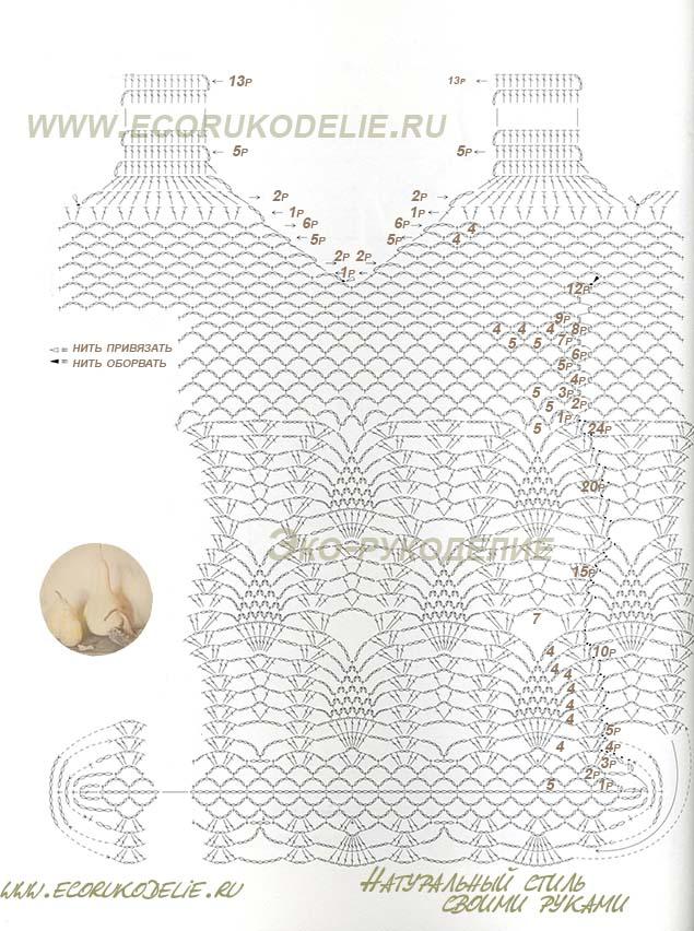 Схема авоськи крючком