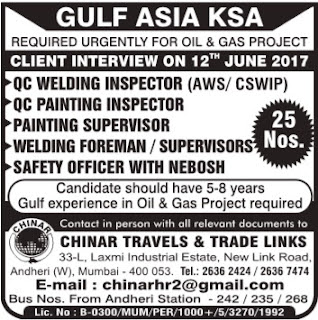 Gulf Asia Oil & Gas project jobs in KSA