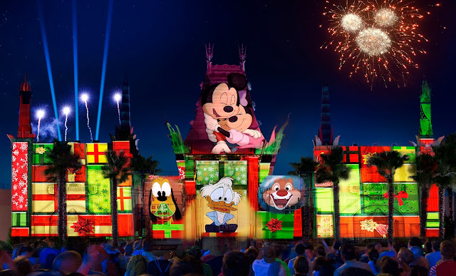 "state-of-the-art projections, special effects, fireworks and more an all-new nighttime spectacular, ""Jingle Bell, Jingle BAM!,"" premieres at Disney's Hollywood Studios"