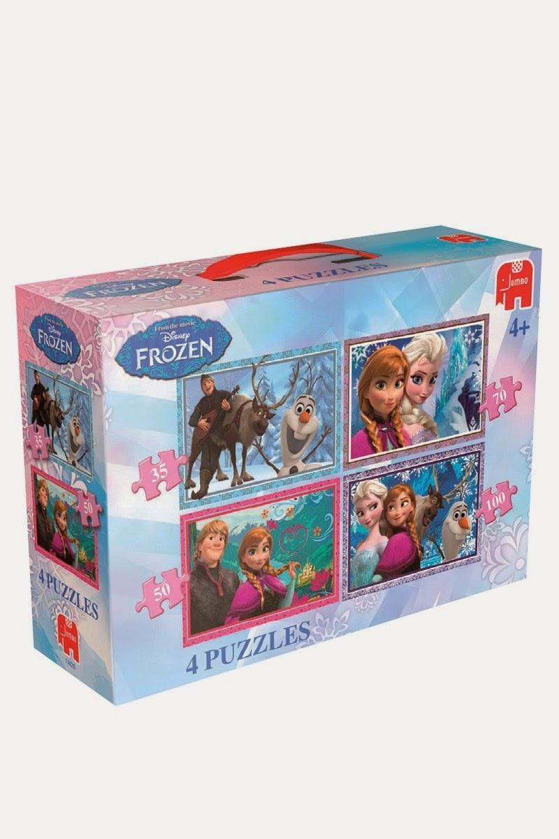 Disney Frozen 4 Puzzle Suitcase