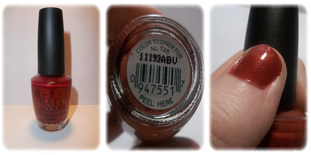 Swatch Vernis à Ongles Teinte Color to Diner For - OPI
