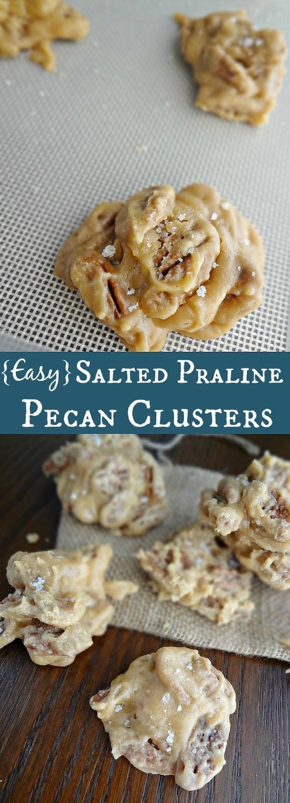 {Easy} Salted Praline Pecan Clusters