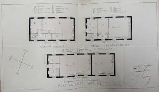 Plan de la première école publique de Cour-Cheverny