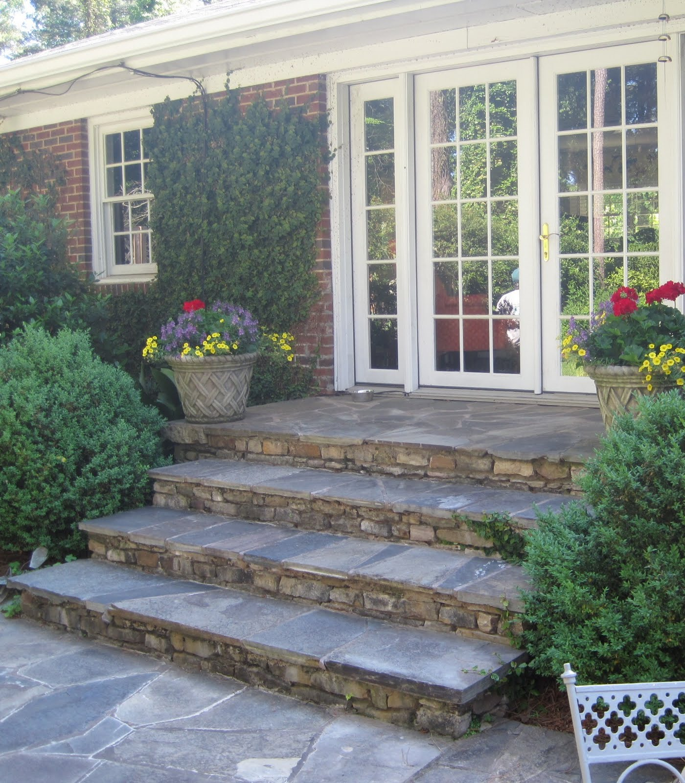 Pretty Old Houses: Terraces on Backyard Stairs Ideas id=38781