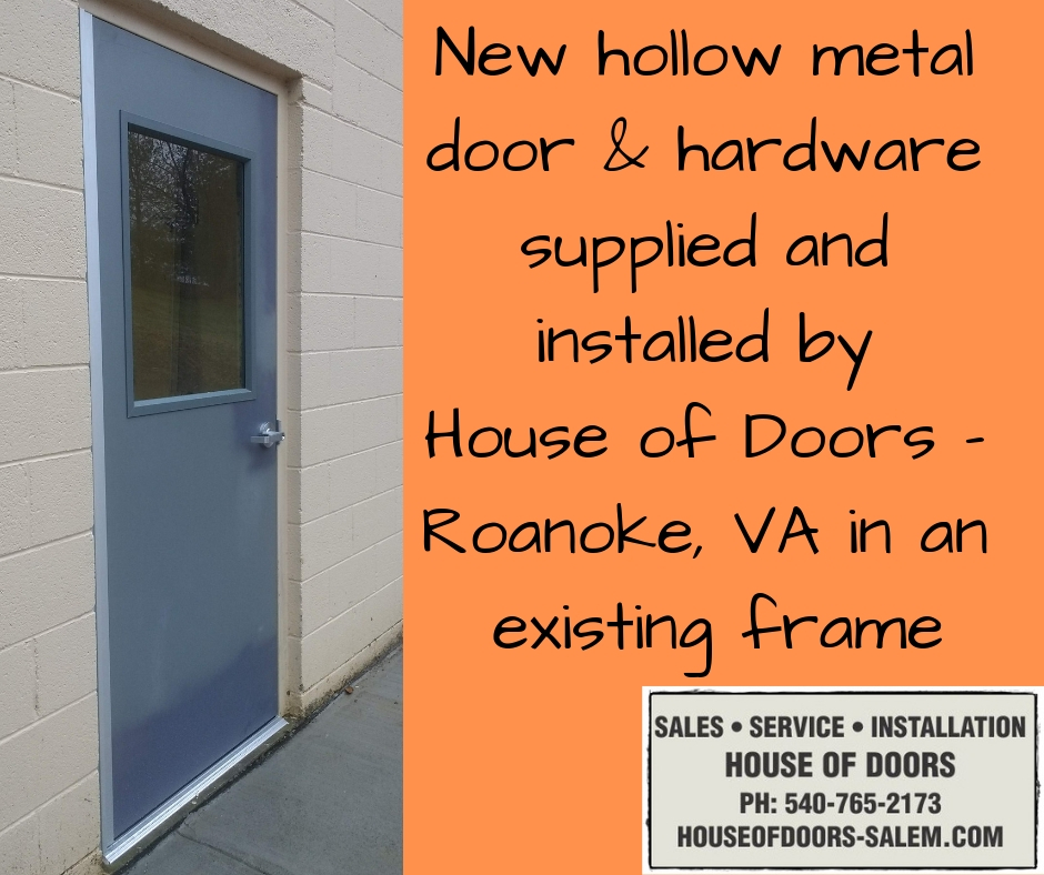 New material in existing frames by House of Doors - Roanoke, VA on