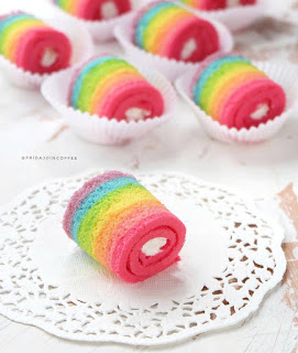 Ide Resep Cara Membuat Bolu Gulung Kukus Rainbow Mini