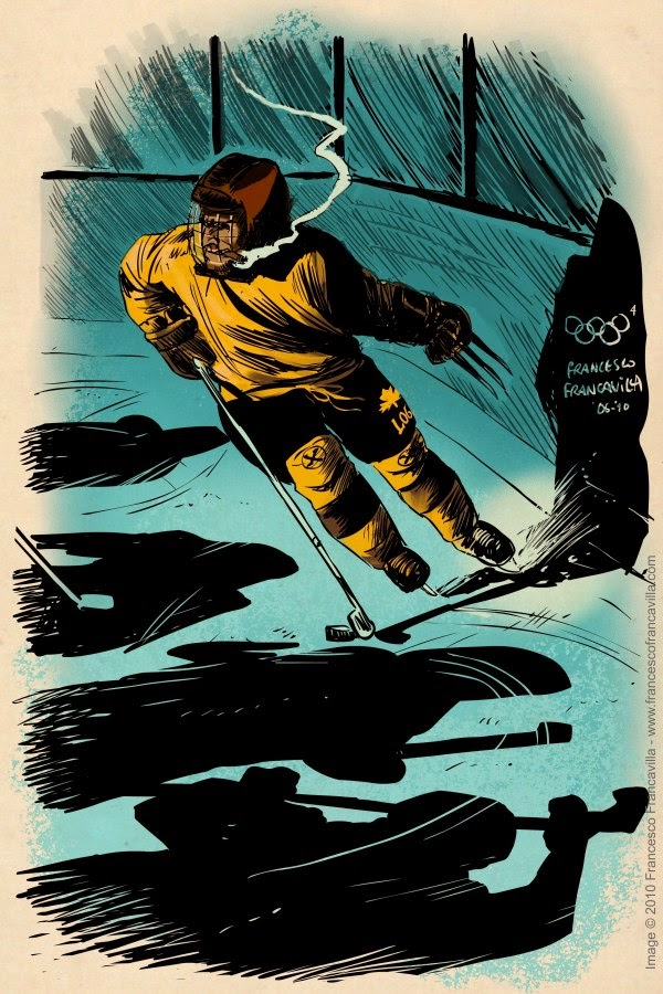 08-Wolverine-Ice-Hockey-Francesco-Francavilla-Winter-Superhero-Olympics-www-designstack-co