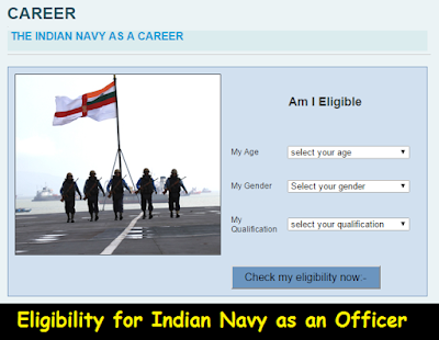 Check Eligibility for Indian Navy as an Officer