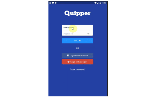 Login ke Aplikasi Quipper school Android