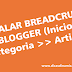 Instalar Breadcrumb no Blogger