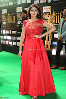 Saisha looks Glamorous Super cute in Transparent Red Gown at IIFA Utsavam Awards 018.JPG