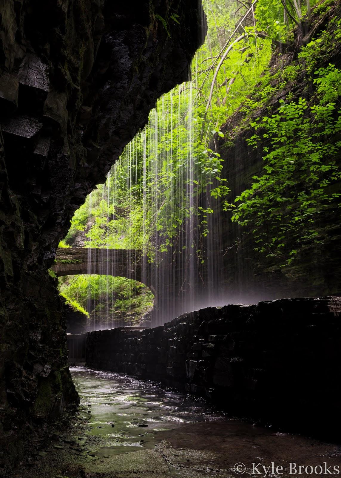 Watkins Glen State Park Under Rainbow Falls