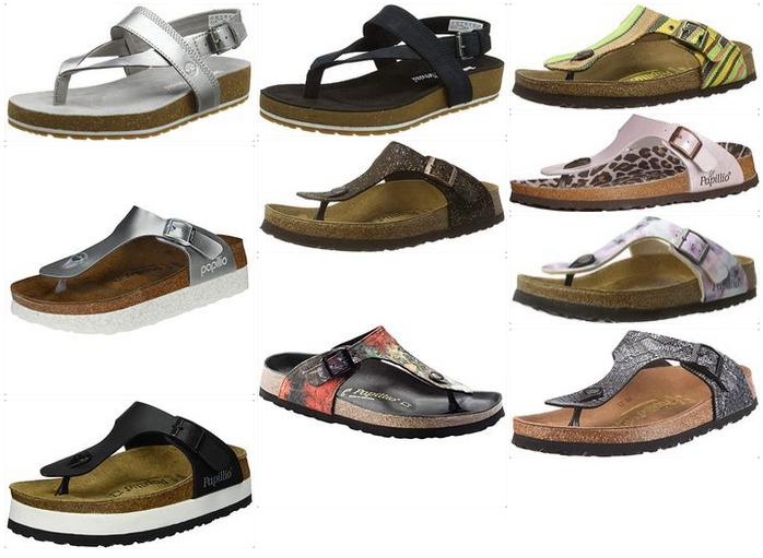 Bequeme Flip-Flops mit Fußbett Damen