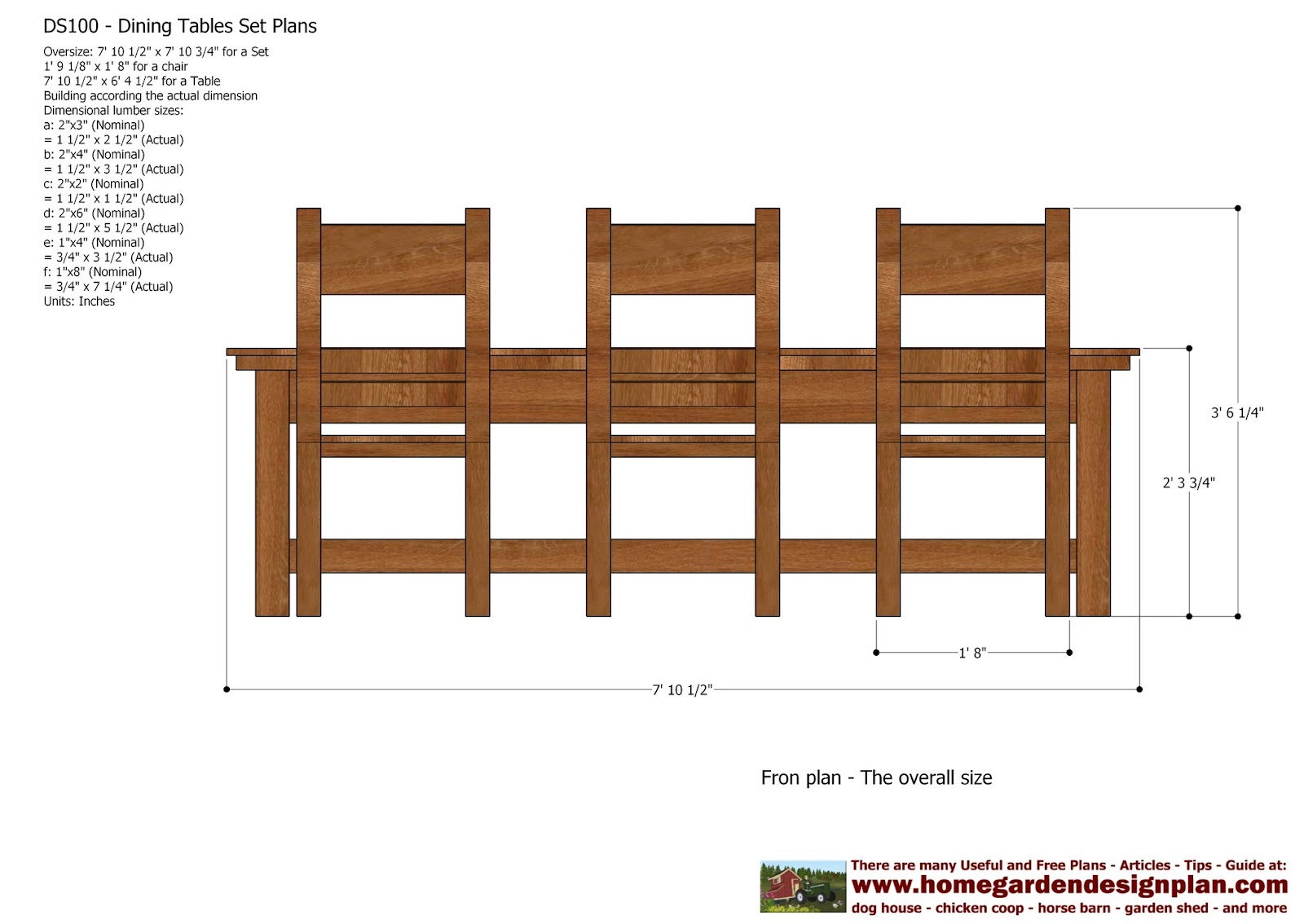Outdoor Wood Dining Table Plans
