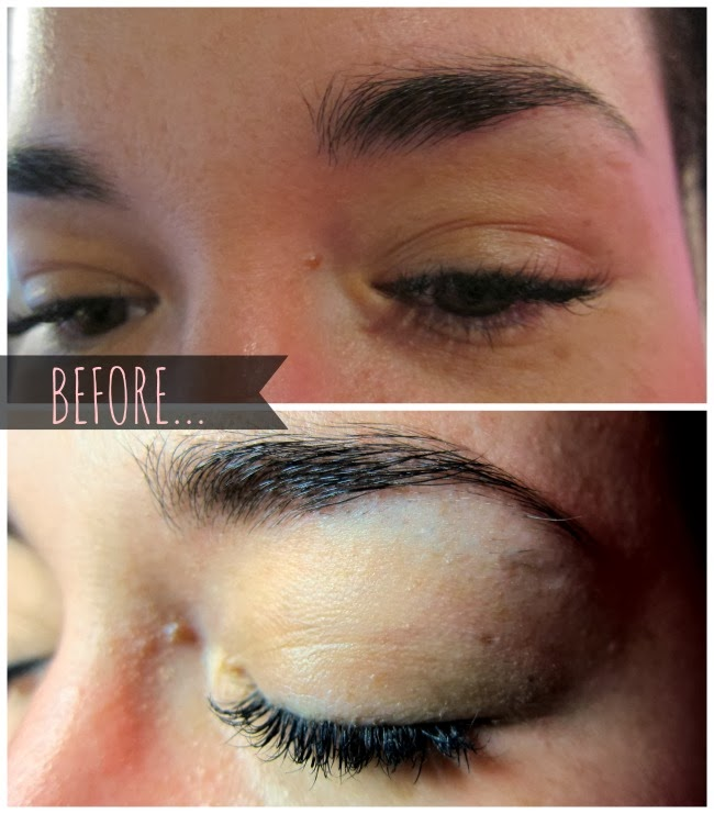 Before Threading at Elysian Brows
