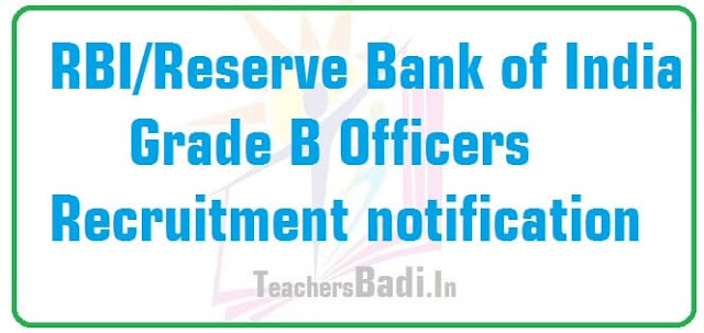 RBI,Reserve Bank of India,Officers recruitment