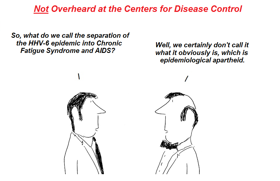 cdc, epidemiological apartheid, hhv-6, pandemic, nih, cover-up, cartoon, hhv-6 cartoon