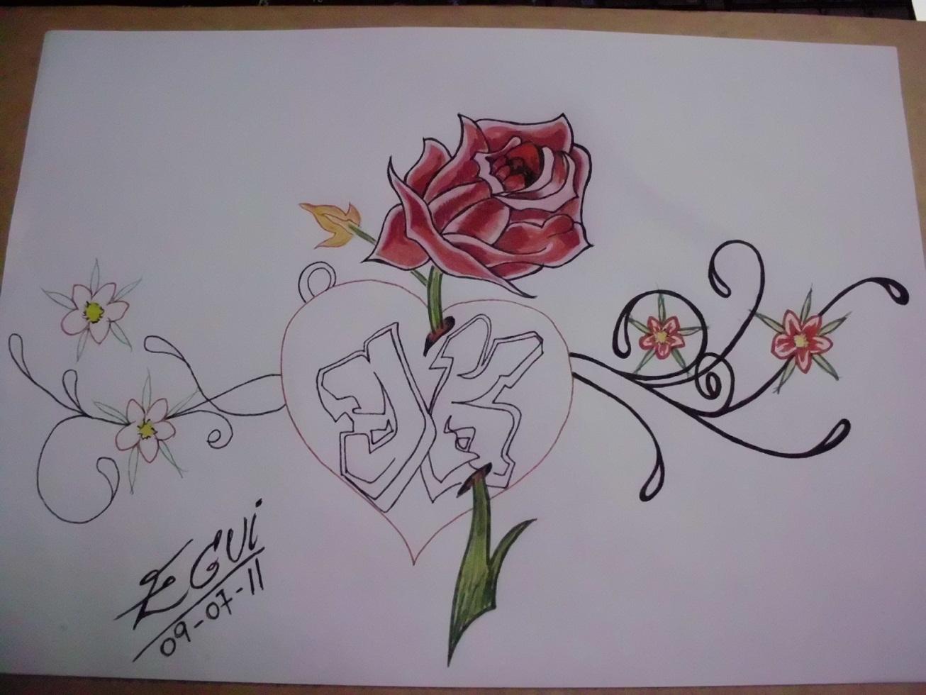 Imagenes De Corazones Con Rosas Para Colorear