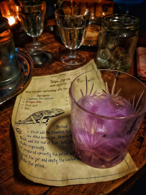 Harry Potter cocktail with instructions