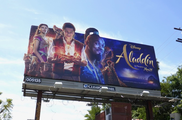 Aladdin movie extension cut-out billboard