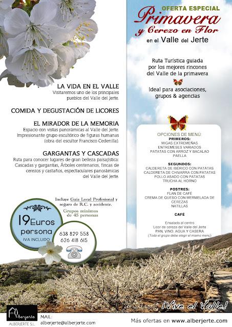 OFERTA Cerezo en Flor 2017 para grupos. Valle del Jerte