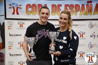 HALTEROFILIA - Lydia Valentín y Andrés Mata campeones de España 2018