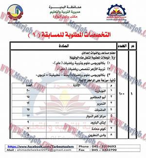 مسابقة التربية والتعليم بمحافظة البحيرة 2016 لشغل 250 معلم مساعد