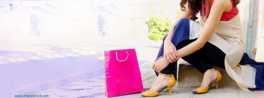 Girl With Shopping Bag Facebook Cover Photo is one of the coolest timeline banner photos for girls and their FB accounts plus other Social Profiles